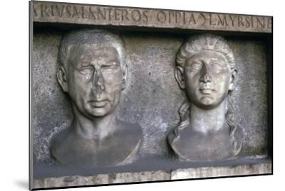 Roman Husband and wife (funerary slab) Imperial period. At Museo Nazionale Romano, Rome-Unknown-Mounted Giclee Print