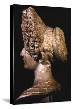 Head of Roman Lady of Flavian Period, late 1st century-Unknown-Stretched Canvas Print