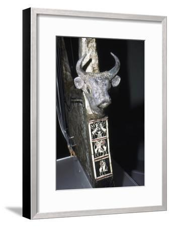 Bull's Head on Sounding Box of Harp, Royal Tombs of Ur, c2500 BC-Unknown-Framed Giclee Print