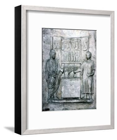 Roman relief of a Shop Selling Knives, c2nd century-Unknown-Framed Giclee Print