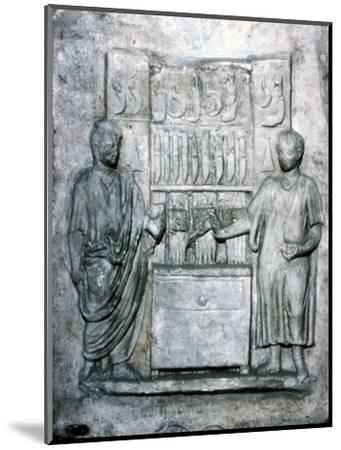 Roman relief of a Shop Selling Knives, c2nd century-Unknown-Mounted Giclee Print