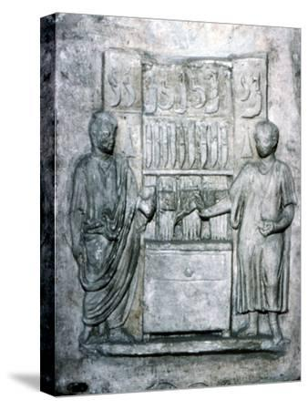 Roman relief of a Shop Selling Knives, c2nd century-Unknown-Stretched Canvas Print