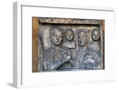 Roman Family on a grave-slab-Unknown-Framed Giclee Print