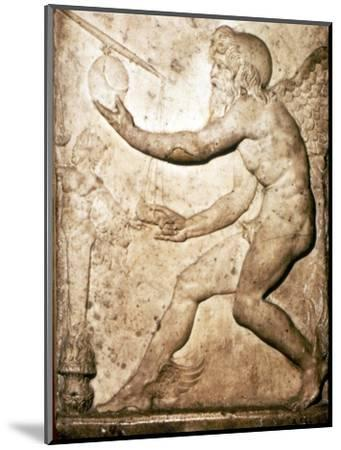 Roman Relief of Saturn-Unknown-Mounted Giclee Print