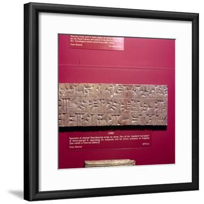 Cunieform Inscription from Nimbrud in classical Neo-Assyrian script, 879 BC-Unknown-Framed Giclee Print