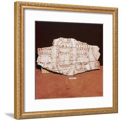 Phoenician Ivory, from a piece of furniture, probably made for export to Egypt, c8th century BC-Unknown-Framed Giclee Print