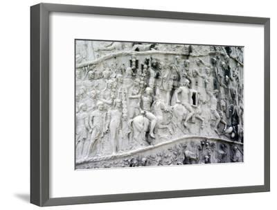 Roman Cavalry and Auxiliaries, Trajan's Column, Rome, c2nd century-Unknown-Framed Giclee Print