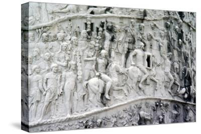 Roman Cavalry and Auxiliaries, Trajan's Column, Rome, c2nd century-Unknown-Stretched Canvas Print