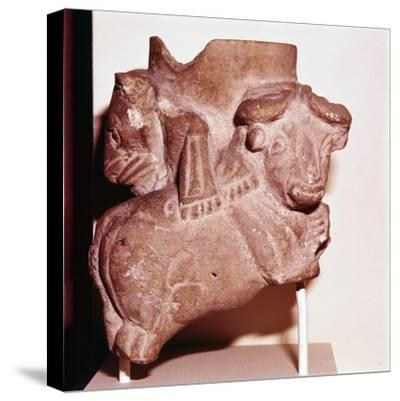Sumerian Libartion Vase from Uruk (Warka), Southern Iraq, c2900 BC-Unknown-Stretched Canvas Print