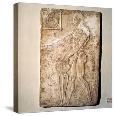 Roman Votive relief of Athlete from Republican Period, Rome, c2nd century BC-Unknown-Stretched Canvas Print