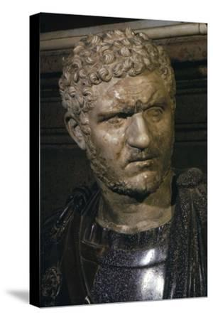 Ancient marble bust of Emperor Caracalla, 212-217-Unknown-Stretched Canvas Print