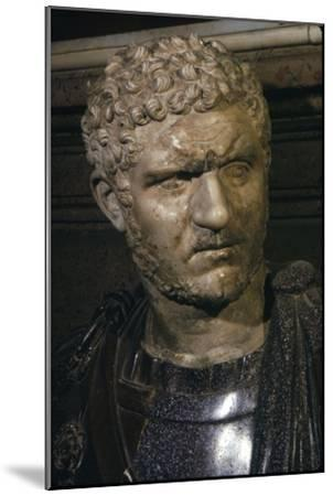Ancient marble bust of Emperor Caracalla, 212-217-Unknown-Mounted Giclee Print