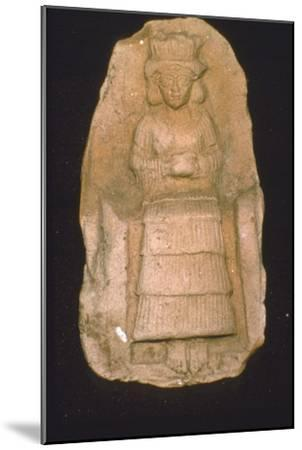 Babylonian Terracotta Plague of Goddess Astarte, c2000BC-1600 BC-Unknown-Mounted Giclee Print
