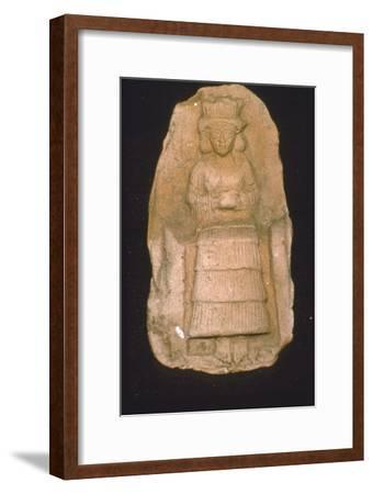 Babylonian Terracotta Plague of Goddess Astarte, c2000BC-1600 BC-Unknown-Framed Giclee Print