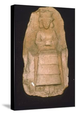 Babylonian Terracotta Plague of Goddess Astarte, c2000BC-1600 BC-Unknown-Stretched Canvas Print
