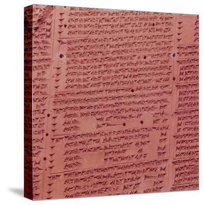 Clay Cuneiform Tablet. 7th century BC-Unknown-Stretched Canvas Print