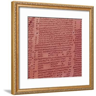 Clay Cuneiform Tablet. 7th century BC-Unknown-Framed Giclee Print