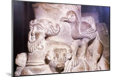 Sumerian Libation Vase Hero Gilgamesh, Bulls and Birds from Warka, Uruk, South Iraq, c2000 BC-Unknown-Mounted Giclee Print
