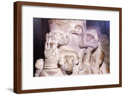 Sumerian Libation Vase Hero Gilgamesh, Bulls and Birds from Warka, Uruk, South Iraq, c2000 BC-Unknown-Framed Giclee Print