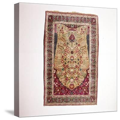 South Persian Prayer Rug, 18th century-Unknown-Stretched Canvas Print