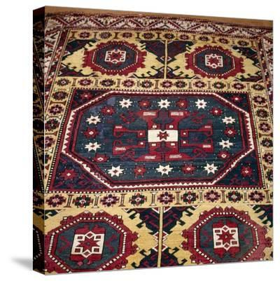 Turkish Rug with Garden Theme, 18th century-Unknown-Stretched Canvas Print