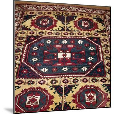 Turkish Rug with Garden Theme, 18th century-Unknown-Mounted Giclee Print