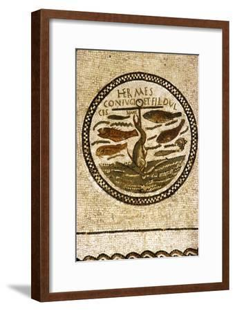 Early Christian Funerary Mosaic, (Roman), 4th century-Unknown-Framed Giclee Print