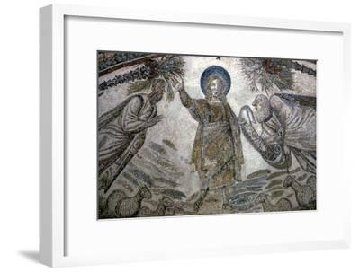 Christ with St Paul and St Peter (right), Mosail detail, Church of Santa Costanza, Rome, 350 BC-Unknown-Framed Giclee Print
