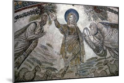 Christ with St Paul and St Peter (right), Mosail detail, Church of Santa Costanza, Rome, 350 BC-Unknown-Mounted Giclee Print