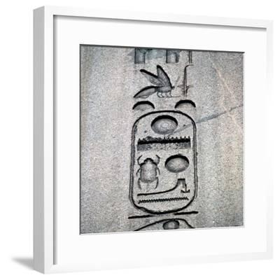 Egyptian Obelisk of Tuthmosis II, 15th century BC-Unknown-Framed Giclee Print