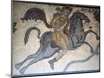 Atlanta on Horseback, Carthage Mosaic, c3rd century-Unknown-Mounted Giclee Print