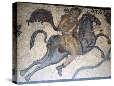 Atlanta on Horseback, Carthage Mosaic, c3rd century-Unknown-Stretched Canvas Print