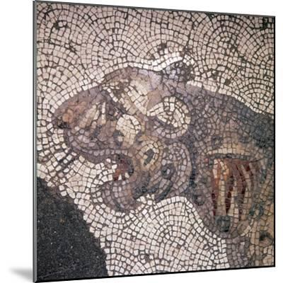 Leopard Mosaic detail, Great Palace, Istanbul, c4th-6th century-Unknown-Mounted Giclee Print