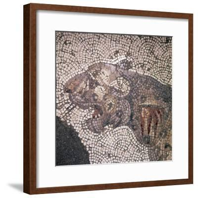 Leopard Mosaic detail, Great Palace, Istanbul, c4th-6th century-Unknown-Framed Giclee Print