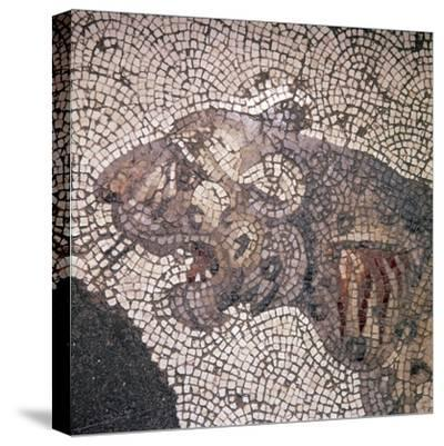 Leopard Mosaic detail, Great Palace, Istanbul, c4th-6th century-Unknown-Stretched Canvas Print