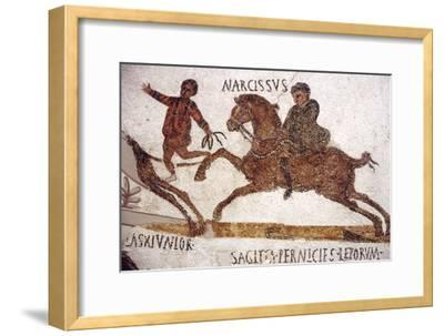 Horse and Rider, Roman Mosaic, c2nd-3rd century-Unknown-Framed Giclee Print