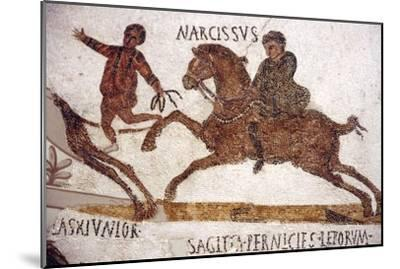 Horse and Rider, Roman Mosaic, c2nd-3rd century-Unknown-Mounted Giclee Print