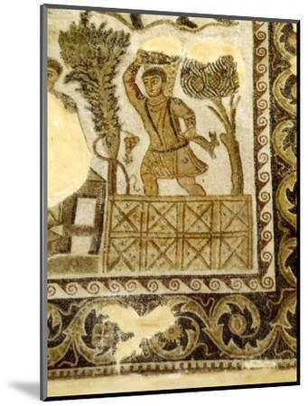 Fruit Collecting and grape treading Mosaic, c3rd century-Unknown-Mounted Giclee Print
