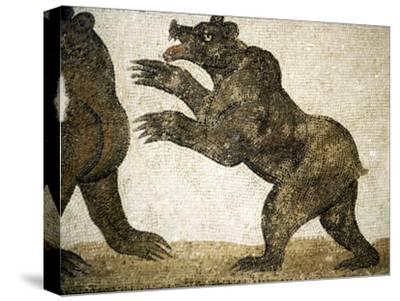 Bears Fighting, detail of Roman floor mosaic, from Utica, Tunisia, c3rd century-Unknown-Stretched Canvas Print