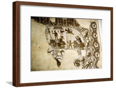 Roman mosaic, Chariot race, c2nd-3rd century-Unknown-Framed Giclee Print