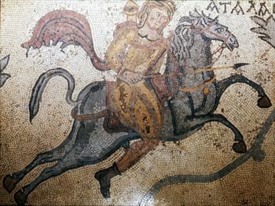 Atlanta on Horseback, Carthage Mosaic, c3rd century-Unknown-Framed Giclee Print