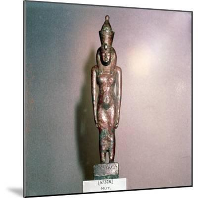 Egyptian bronze, Goddess Mut, Theban Mother-goddess, 18th Dynasty, c1550BC-1298BC-Unknown-Mounted Giclee Print
