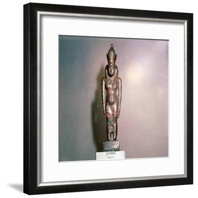 Egyptian bronze, Goddess Mut, Theban Mother-goddess, 18th Dynasty, c1550BC-1298BC-Unknown-Framed Giclee Print