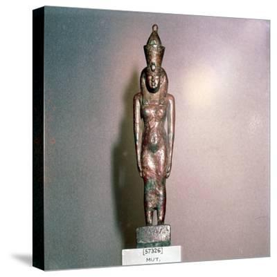 Egyptian bronze, Goddess Mut, Theban Mother-goddess, 18th Dynasty, c1550BC-1298BC-Unknown-Stretched Canvas Print