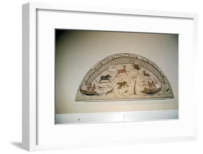 Hunting animals with net, Roman mosaic from Carthage, c3rd century-Unknown-Framed Giclee Print