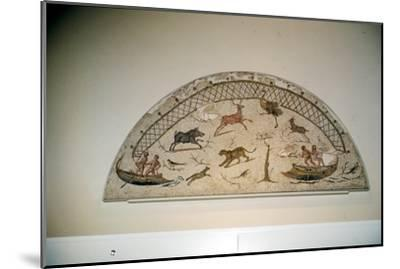 Hunting animals with net, Roman mosaic from Carthage, c3rd century-Unknown-Mounted Giclee Print