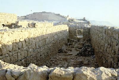 Store rooms of Herod's Palace, Masada, Israel, c20th century-Unknown-Framed Photographic Print