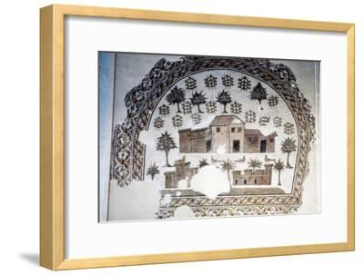 Roman Mosaic of Roman Villa with trees and vines, c3rd century-Unknown-Framed Giclee Print