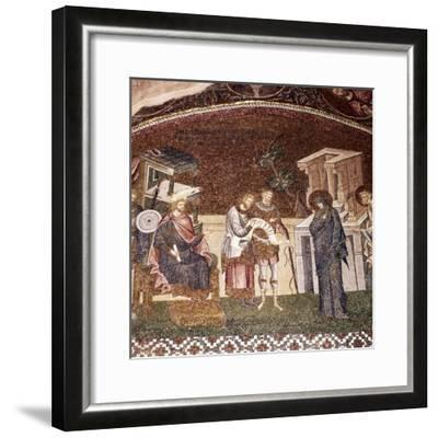 Mary and Joseph before Cyrenius, Byzantine Mosaic, Chora Church, Istanbul, c1310-1320-Unknown-Framed Giclee Print