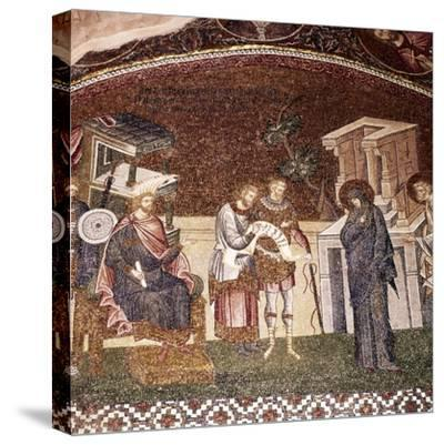 Mary and Joseph before Cyrenius, Byzantine Mosaic, Chora Church, Istanbul, c1310-1320-Unknown-Stretched Canvas Print